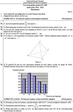Teste suplimentare de pregatire la Matematica pentru elevii care vor sustine Evaluarea Nationala 2014 - publicate de Ministerul Educatiei - Esential - HotNews.ro