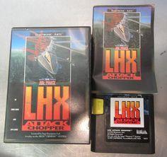 EA AIR FORCE LHX ATTACK CHOPPER Manual, Game, Case #SEGA