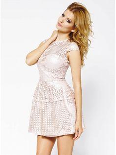 Sukienka Eveline w kolorze różowym