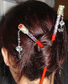 Cloisonne Hair Chopsticks Accessories Pinterest Golden And Beads