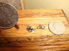 Dollhouse Miniature 1:12 Drawer Pulls Chrome Metal #K8-1 #TownSquareMiniatures