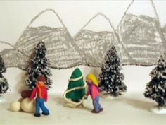 background set for claymation