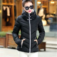 2016 New Fashion Down   Parkas Warm Winter Coat Women Light Thick Winter Plus  Size Hooded Jacket Female Femme Outerwear 382 9576255c1795