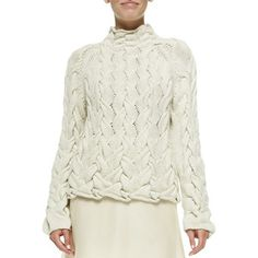 THE ROW Women's Chunky Cable-Knit Sweater - Ivory (X-SMALL)