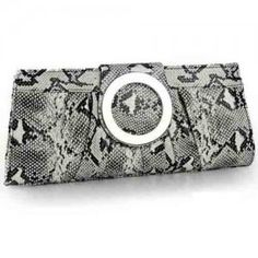 Nuevo bolsa de mano de moda por piel de serpiente para mujer