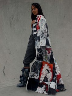 Allia King, recycled jeans
