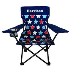 Personalised Camp Chair Starburst Navy Outdoor Chairs, Outdoor Furniture, Outdoor Decor, Camping Chairs, Little Ones, Navy, Home Decor, Garden Furniture Outlet, Garden Chairs