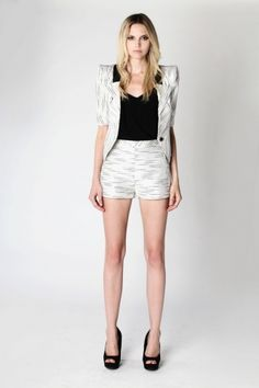 Nilda Shorts | White Stripe from Stella and Jamie