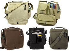 M-51 Engineers Shoulder Laptop Bag The Ulimate Carry-all for Business or Travel Large Laptop Size Main Compartment Large Document Compartment with 3/4'' Zipper Opening Lots of Pouches, Compartments, a