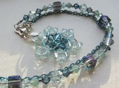 Aquamarine Crystal Snowflake Snow Queen by LaceExoskeleton on Etsy