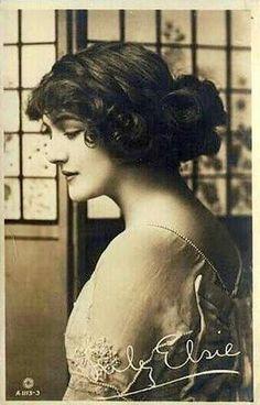 Miss Lily Elsie - those beautiful Edwardian Era hair styles...