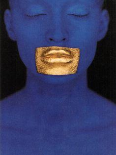 Blue Klein, Vogue Parisphotography eric traoréstylist delphine treanton make-up topolino  Fashion Images de Mode Nº3 (1998)