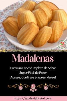 Madalenas - Source by Pasta, Whoopie Pies, Portuguese Recipes, Small Cake, Pretzel, Chocolate, Scones, Cantaloupe, Biscuits