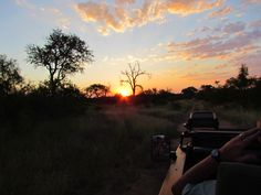 Sunset on game drive