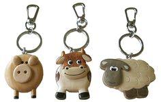 Animal wooden key rings