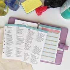 Spring Cleaning Checklist and Weekly Tracker by FranklinPlanner