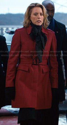 Elizabeth s red coat on Madam Secretary. Outfit Details  http   wornontv. ce05fd375
