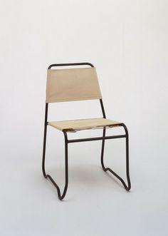 "Jack Heaney (American) ""Aluma-Stack"" Stacking Chair  Manufacturer:     Treitel-Gratz Co., Inc., New York, NY Date:     c. 1947"