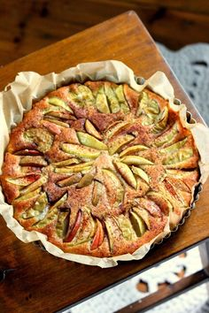 Sweet Pie, Healthy Treats, Ratatouille, Vegan Desserts, Quiche, Baking, Breakfast, Ethnic Recipes, Food