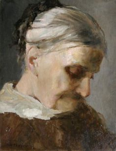 A Study of an Old Woman c.1890 - Abbott Handerson Thayer