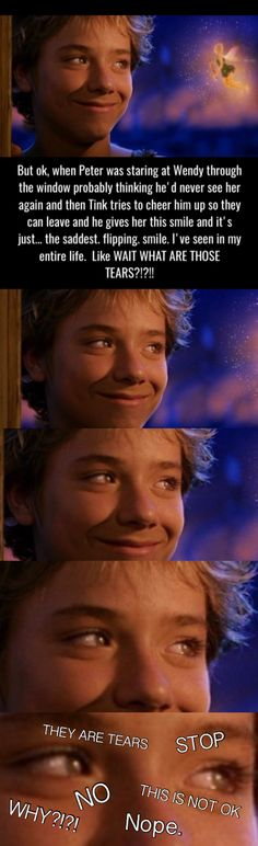 IM CRYING   PETER PAN 2003 // I wish they'd kept the book ending where every now and then he and Wendy go back to Neverland for spring cleaning, and then they carry on the tradition with her daughter.
