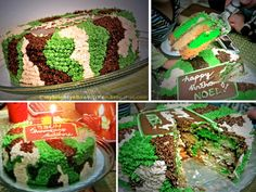 My Bright Yellow Kitchen: 2012 cake project #2: camouflage cake