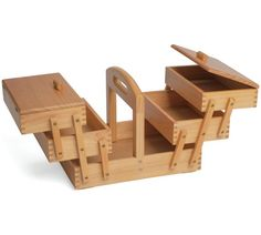 £39 Solid Pine Cantilever 3 Tier Sewing Box at Argos.co.uk, visit Argos.co.uk to shop online for Sewing machine accessories, Sewing machines and accessories, Hobbies and crafts, Sports and leisure