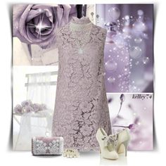 Victorian White Lavender by kelley74 on Polyvore featuring moda, Valentino, Forever 21, Accessorize and 1928