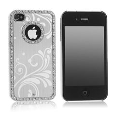 Pandamimi Deluxe Silver Chrome Bling Crystal Rhinestone Hard Case Skin Cover for Apple iPhone 4 4S 4G With 2 Pcs Screen Protector and Silver Stylus Pandamimi http://www.amazon.com/dp/B007ZKG77I/ref=cm_sw_r_pi_dp_wJ3gub006EWPH