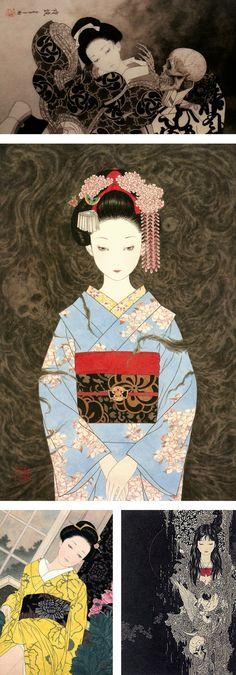 Le oscure illustrazioni dell'artista giapponese.
