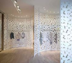 Perforated partitions...Retail...