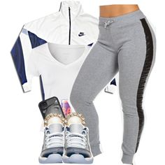 I Know. by ariangrant on Polyvore featuring Calvin Klein, NIKE, Kate Spade, Maybelline and 407