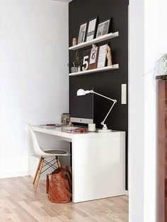 home office design by Niche design office interior design ideas design Home Office Space, Office Workspace, Home Office Design, Home Interior Design, House Design, Office Spaces, Small Workspace, Desk Space, Design Hotel
