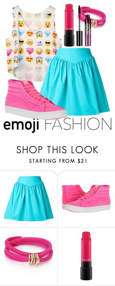 """""""❤"""" by kimberlymarievincent ❤ liked on Polyvore featuring Moschino, Vans, de Grisogono, MAC Cosmetics and Charlotte Russe"""