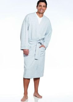 63e877275c Wrap up in luxurious comfort in this waffle textured robe. Crafted from a  cotton blend fabric to keep you.