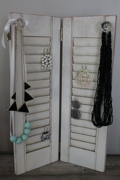 Antique Shutter Jewelry Holder by thecrucialhome on Etsy, $16.99