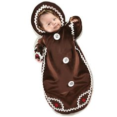 Too cute! Gingerbread Infant Costume