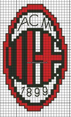 SCHEMI VARI - Idee a Punto Croce Hama Beads Patterns, Beading Patterns, Inter Milan Logo, Robot Design, Perler Beads, Pixel Art, Cross Stitch, Knitting, Coding
