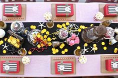 pirate party table layout