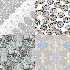 Laced Inspired Patternbank Studio Designs by: Varpu Kronholm, Holly Cooper, Line Dubois, Eleny V Eksterman