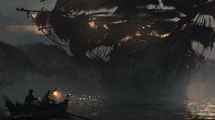 Ghost ship by daRoz.deviantart.com on @DeviantArt