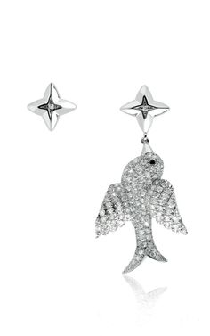 Hirrondelle Bird Earrings by Elise Dray for Preorder on Moda Operandi