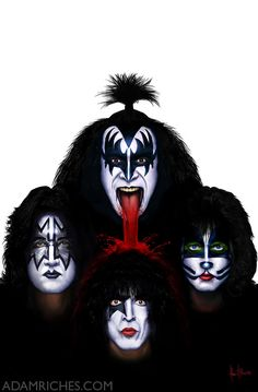 KISS Gene Simmons Paul Stanley Tommy Thayer Eric S by AdamRiches ...