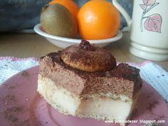Wspaniały deser dla miłośników gorzkiej czekolady i idealny dla osób nie lubiących przesłodzonych ciast. Oba kremy wylewamy na warstwy herb...