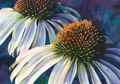 CONEFLOWERS (ECHINACEA) ORIGINAL WATERCOLOR by Mary Ellen McLaughlin