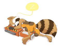 Someday I would stop pinning Rocket... Nah! Raccoon Art, Rocket Raccoon, Racoon, Marvel Fan Art, Marvel Heroes, Marvel Comics, Galaxy Drawings, Mundo Marvel, Dancing Baby