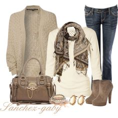 Knitted Cardigan by sanchez-gaby on Polyvore featuring Blonde + Blonde, Fat Face, Jimmy Choo and Louche