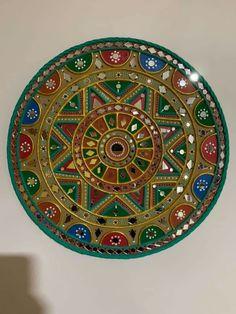 Dot Painting Tools, Worli Painting, Mirror Artwork, Mural Art, Murals, Mirror Crafts, Clay Wall Art, Clay Art Projects, Ganesha Art