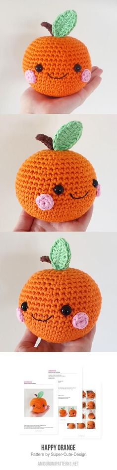 Happy Orange Amigurumi Pattern                                                                                                                                                                                 Mais