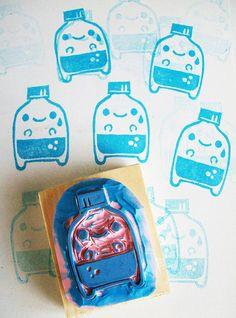 nomikake hand carved stamp